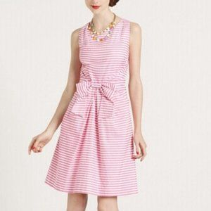 Kate Spade Pink White Stripe Bow Dress